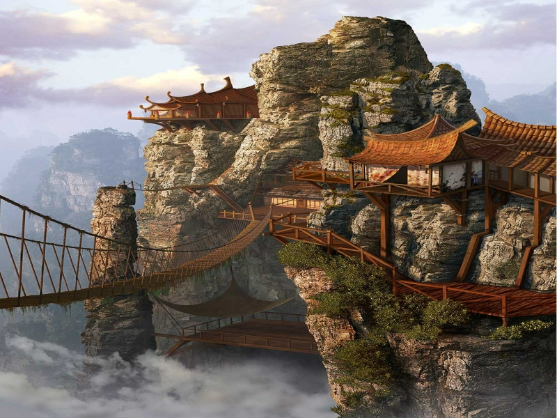 paintings-clouds-china-mist-buildings-chinese-realistic-asian-architecture-rope-bridge-1600x1200_www-wallpaperhi-com_13